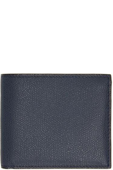 Valextra - Navy 6CC Bifold Wallet