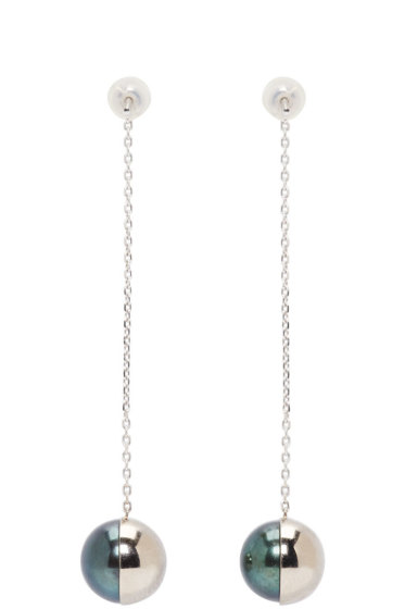 Melanie Georgacopoulos - White Gold Arlequin Tasaki Edition Pendant Earrings