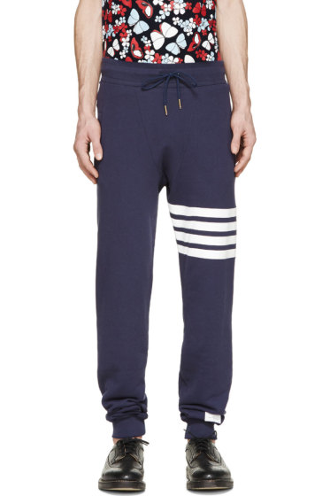 Thom Browne - Navy Striped Classic Lounge Pants