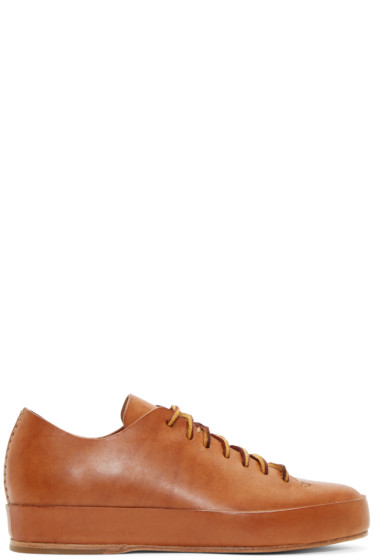 Feit - Brown Leather Low-Top Sneakers