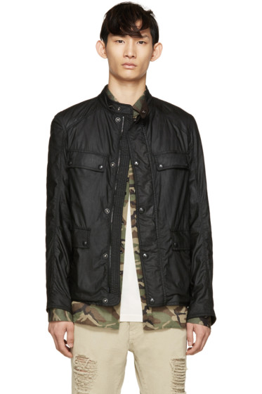 Belstaff - Black Waxed Cotton Leighwood Jacket
