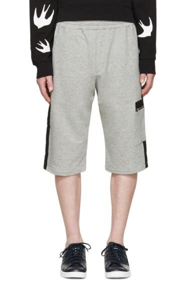 McQ Alexander McQueen - Grey Stripe Lounge Shorts