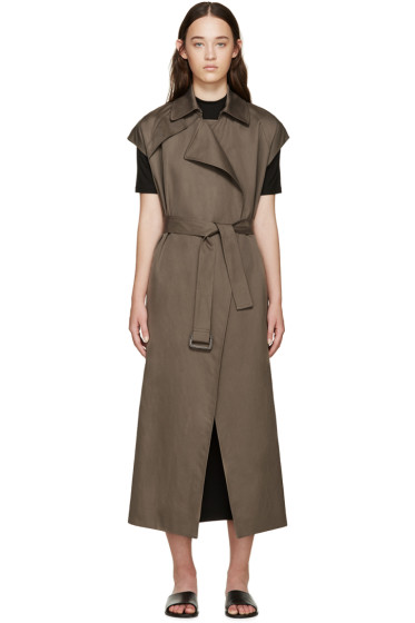 Helmut Lang - Khaki Cotton Trench Coat