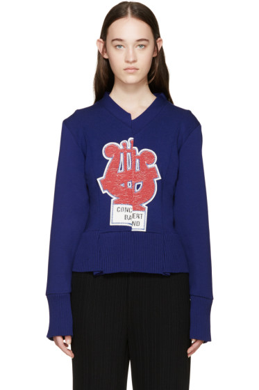Marc Jacobs - Blue Embroidered Sequin Sweater