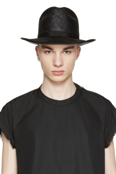 Robert Geller - Black Straw Hat