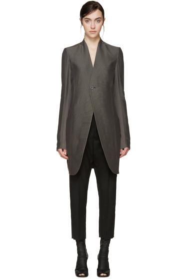 Rick Owens - Grey Plinth Coat