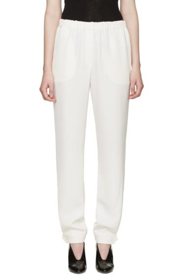 Lanvin - White Button Cuffs Trousers