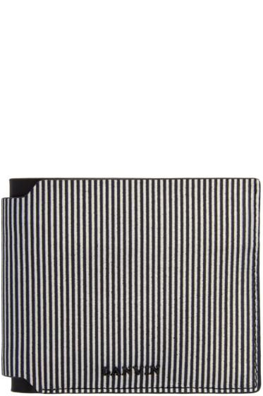 Lanvin - Black & White Striped Wallet
