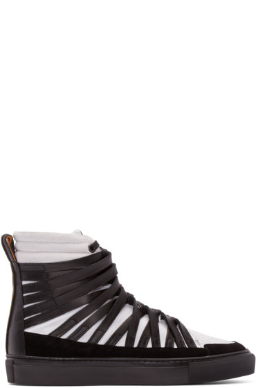 Damir Doma - Black & White Falco High-Top Sneakers
