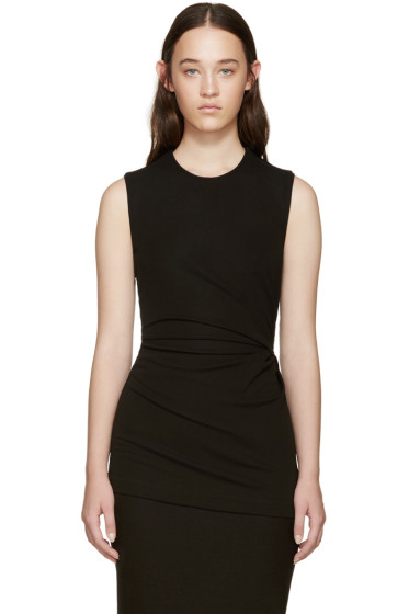 Givenchy - Black Draped Tank Top