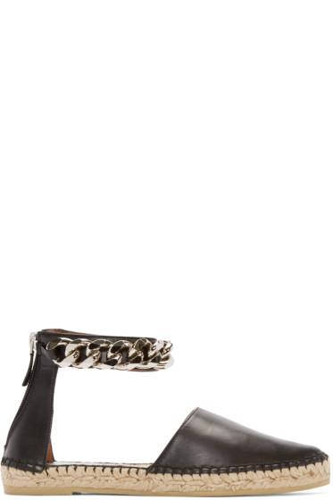 Givenchy - Black Capri Chain Espadrilles
