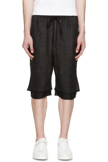 3.1 Phillip Lim - Black Layered Lounge Shorts