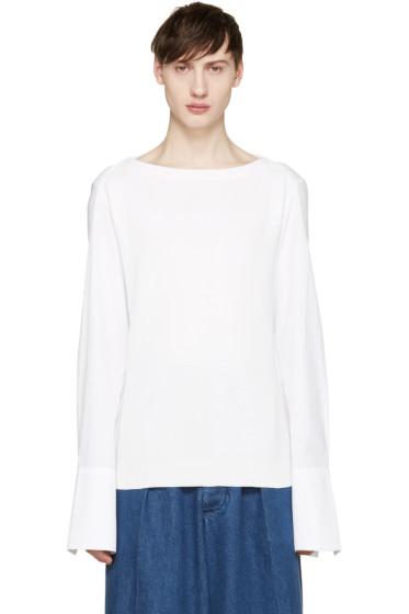 Juun.J - White Poplin Sleeve Pullover