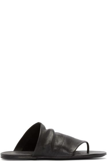 Marsèll - Black Leather Arsella Sandals