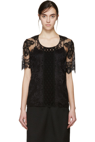 Burberry Prorsum - Black Lace Blouse