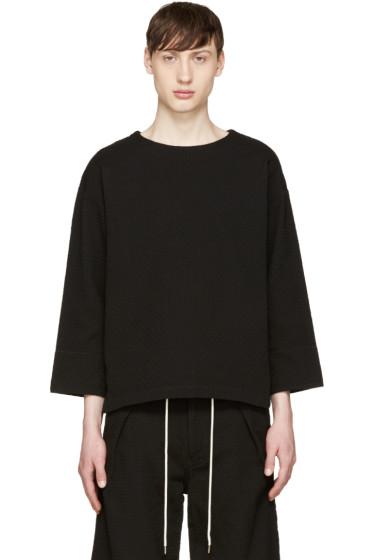 Sasquatchfabrix - Black Textured Sashiko Top