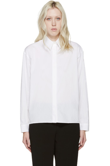 Dion Lee - White Poplin Quarter Shirt