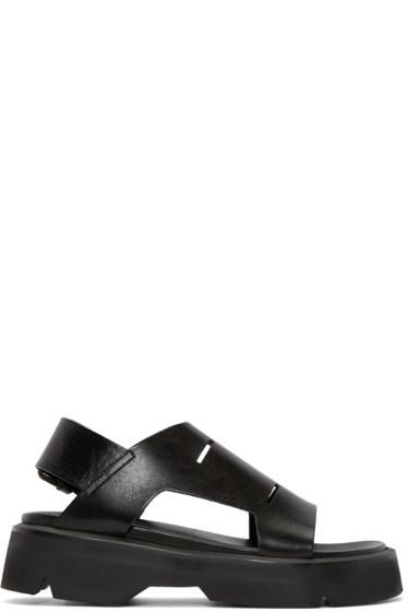 Julius - Black Leather Sandals