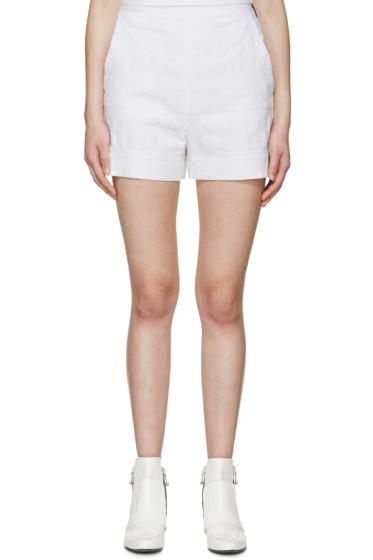 MSGM - White Logo Terrycloth Shorts