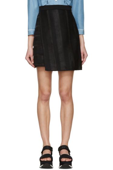 MSGM - Black Raffia Short Skirt