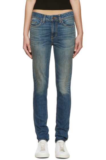 6397 - Blue Faded Loose Skinny Jeans
