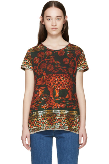 Valentino - Orange & Green Rhino T-Shirt