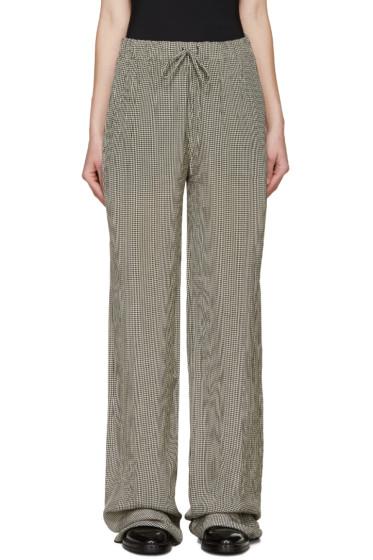 Yang Li - Black & White Gingham Trousers