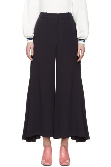 Peter Pilotto - Navy Crepe Safari Culottes