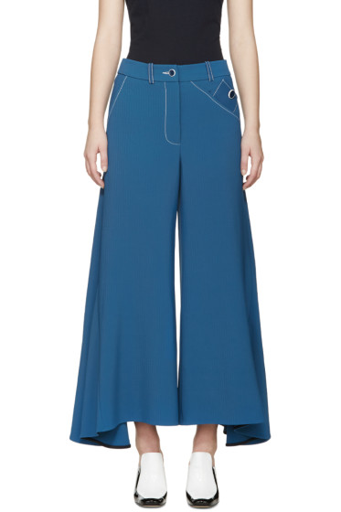 Peter Pilotto - Blue Flared Safari Trousers