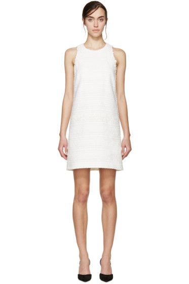 Giambattista Valli - White Tweed Floral Lace Dress