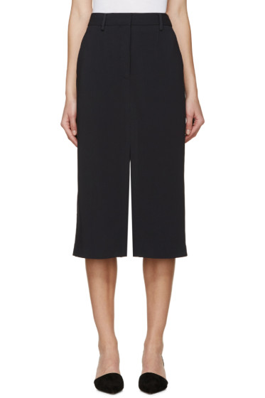 Maiyet - Navy Slit Long Skirt