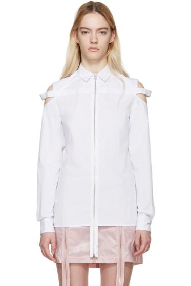Hood by Air - White Poplin Cut-Out Shirt