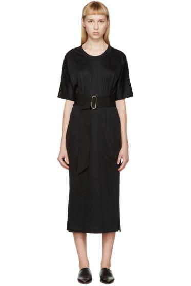 Lemaire - Black Belted Jersey Dress