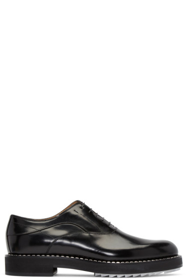 Fendi - Black Leather Studded Oxfords
