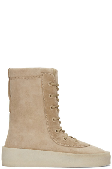 YEEZY - Taupe Crepe Boots