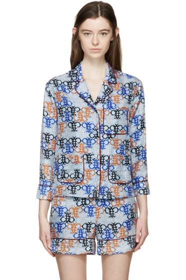 Emilio Pucci - Blue Monogram Pyjama Shirt
