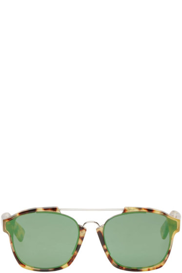 Dior - Brown Tortoiseshell Abstract Sunglasses