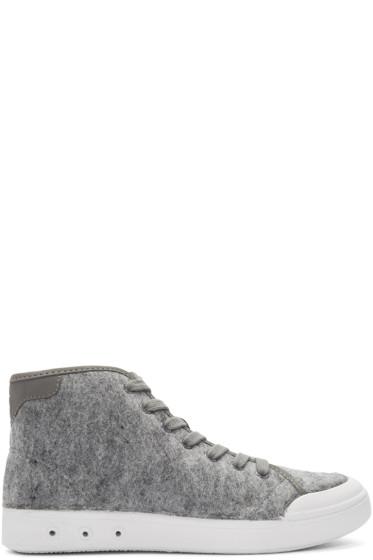 Rag & Bone - Grey Wool Standard Issue High-Top Sneakers
