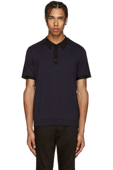 Rag & Bone - Navy & Black Dustin Polo