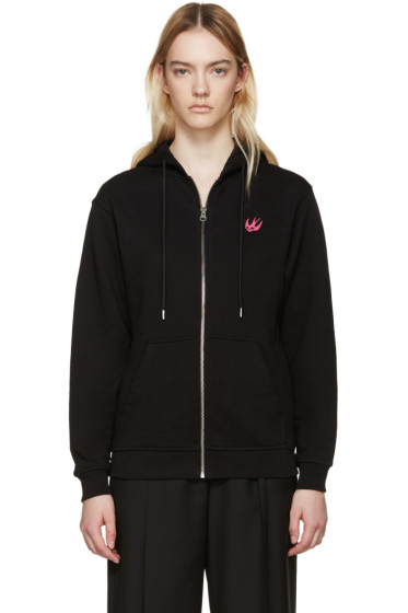 McQ Alexander McQueen - Black Embroidered Hoodie