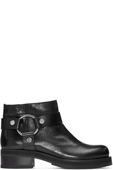 McQ Alexander McQueen - Black Harness Broadway Boots