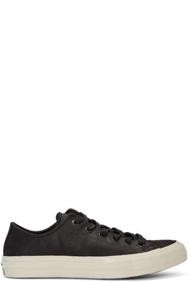 Converse by John Varvatos - Black Leather CTAS II OX Sneakers