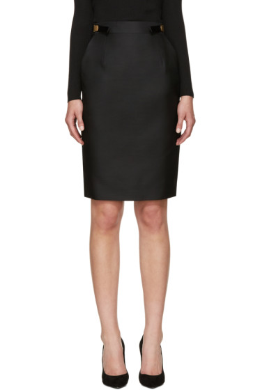 Dsquared2 - Black Wool & Silk Army Skirt