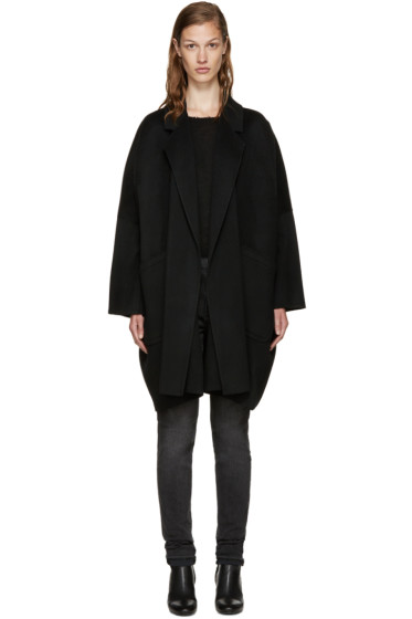 Helmut Lang - Black Wool Oversize Coat