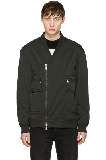 Helmut Lang - Green Crossover Bomber Jacket