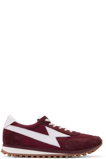 Marc Jacobs - Burgundy Runner Jogger Sneakers