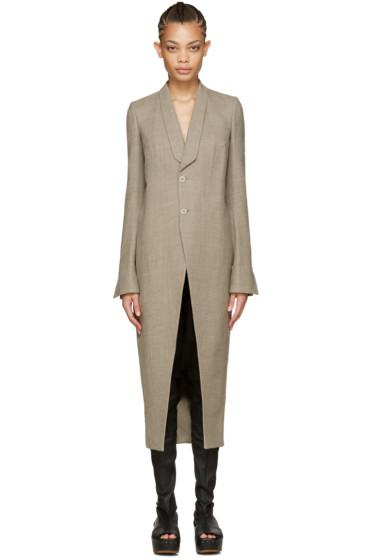 Rick Owens - Grey Tusk Coat