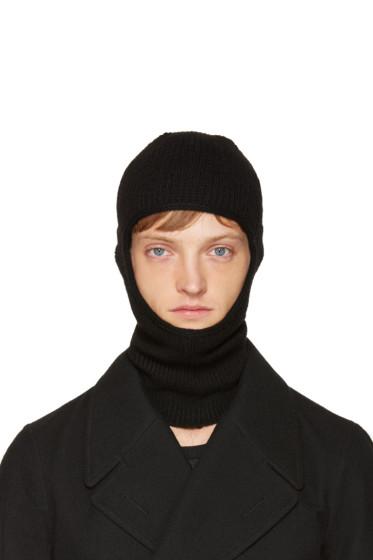 Rick Owens - Black Knit Ski Mask