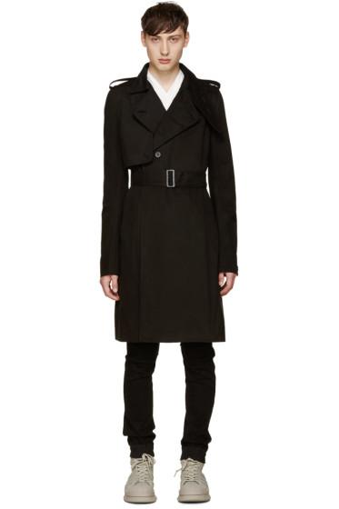 Rick Owens - Black Trench Coat