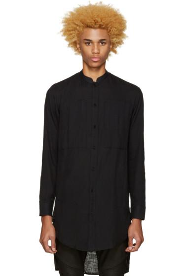 Balmain - Black Cotton Shirt